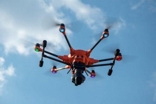 drone con cámara térmica