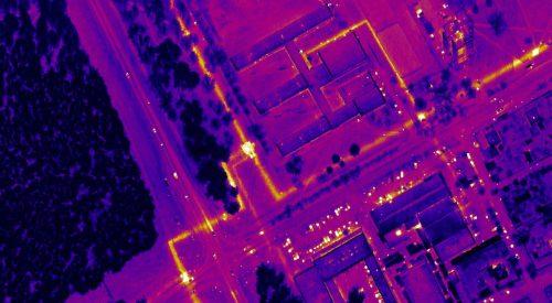 teromografia aérea con drones