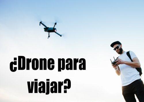 drone plegable viajar